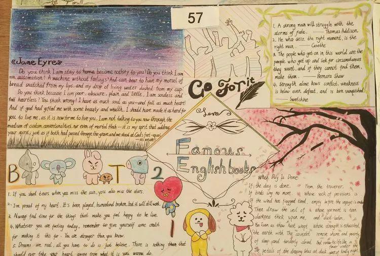 【新百年新征程】嘉积中学高一年级爱阅读,迎校庆英语手抄报比赛