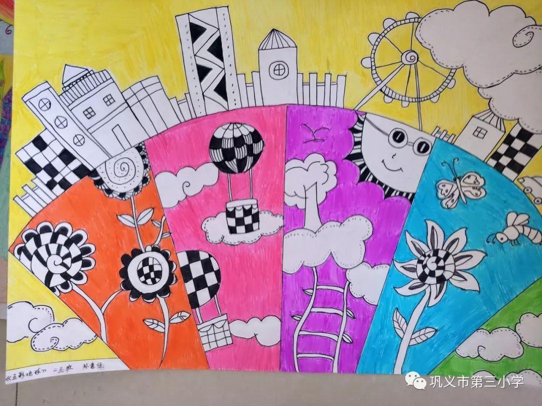 中国梦儿童绘画作品