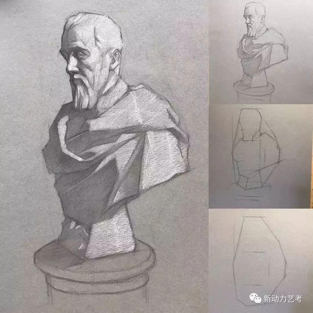 他画的素描结构步骤图,短短6天就狂吸粉270w图片