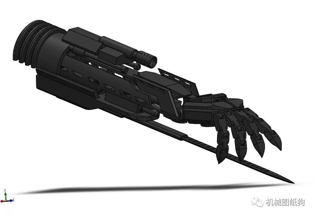 【机器人】含袖里剑机械臂简易模型3d图纸 solidworks
