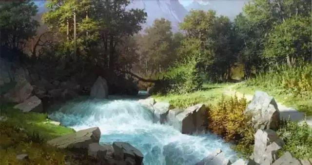 1982年出生,俄罗斯风景油画大师,其作品写实地描绘了乌克兰的自然