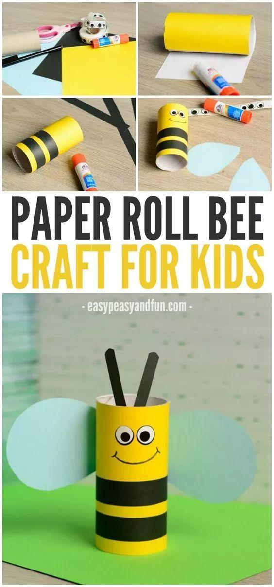 硬卡纸做成的小蜜蜂,和孩子一起讲述小蜜蜂采蜜忙的故事.图片