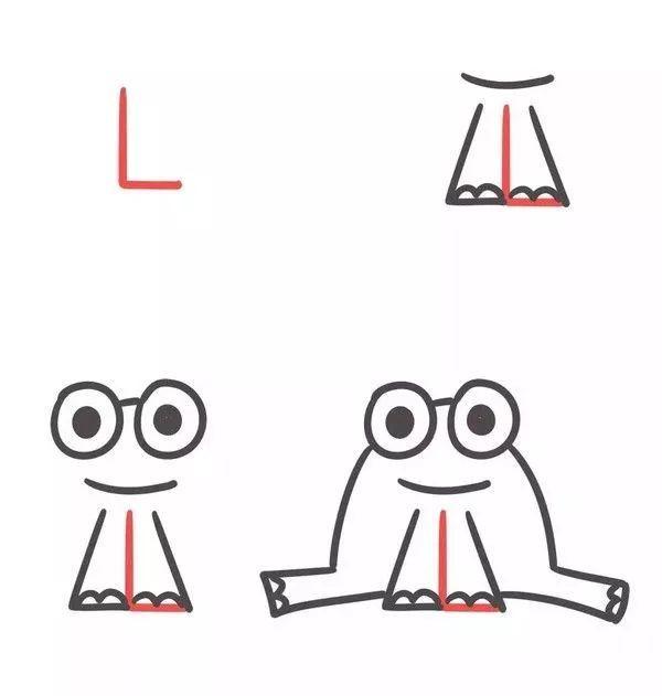字母l:青蛙