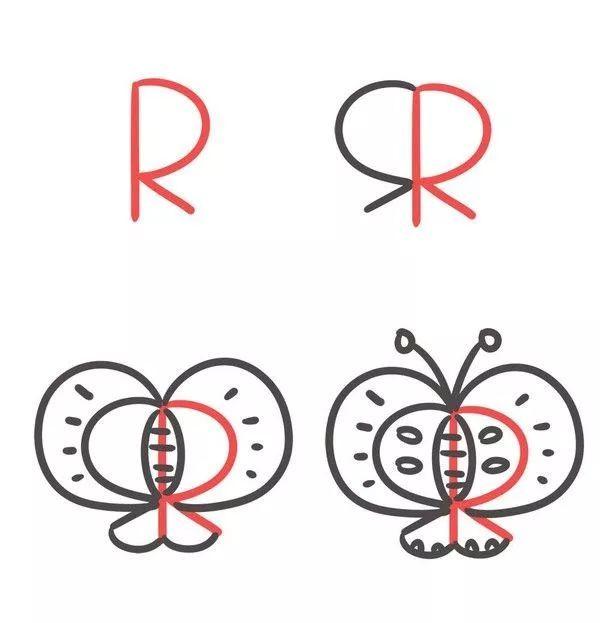 26个最有创意的字母简笔画来啦图片
