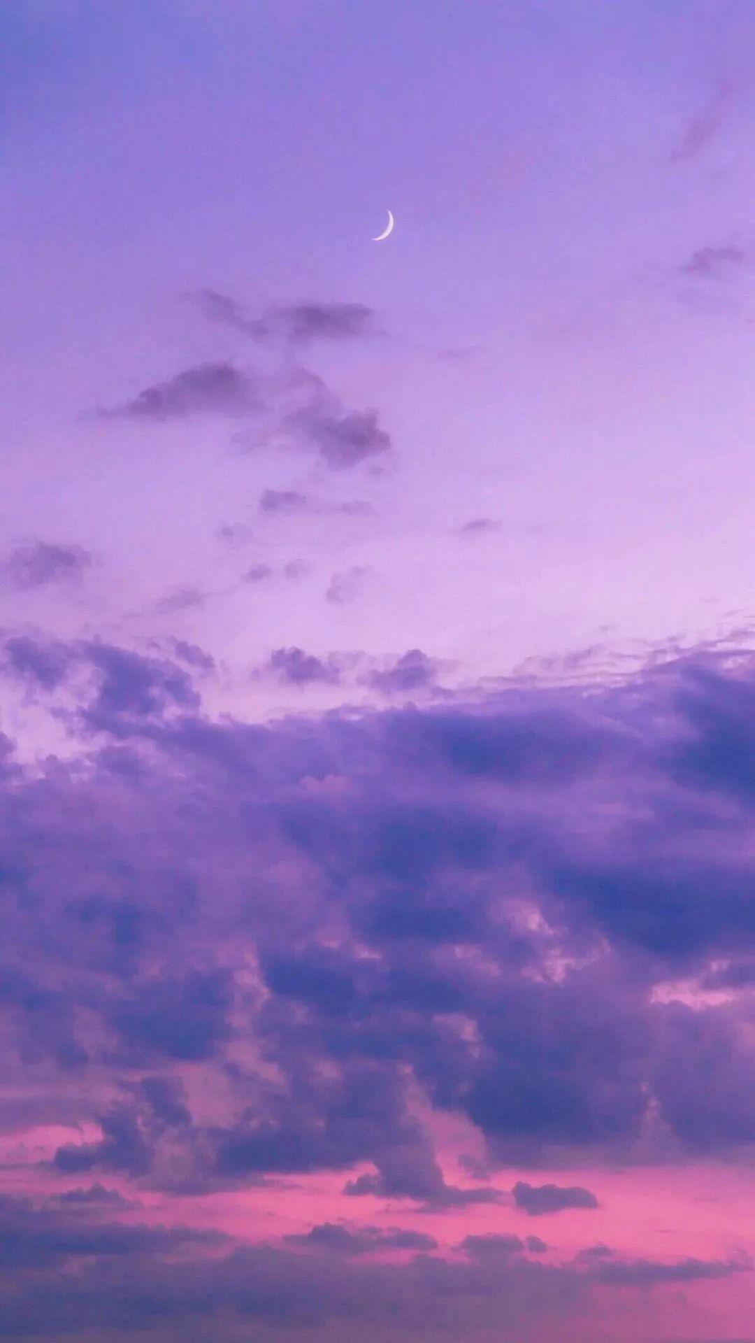 紫色 壁纸 头像 天空 唯美 风景图片