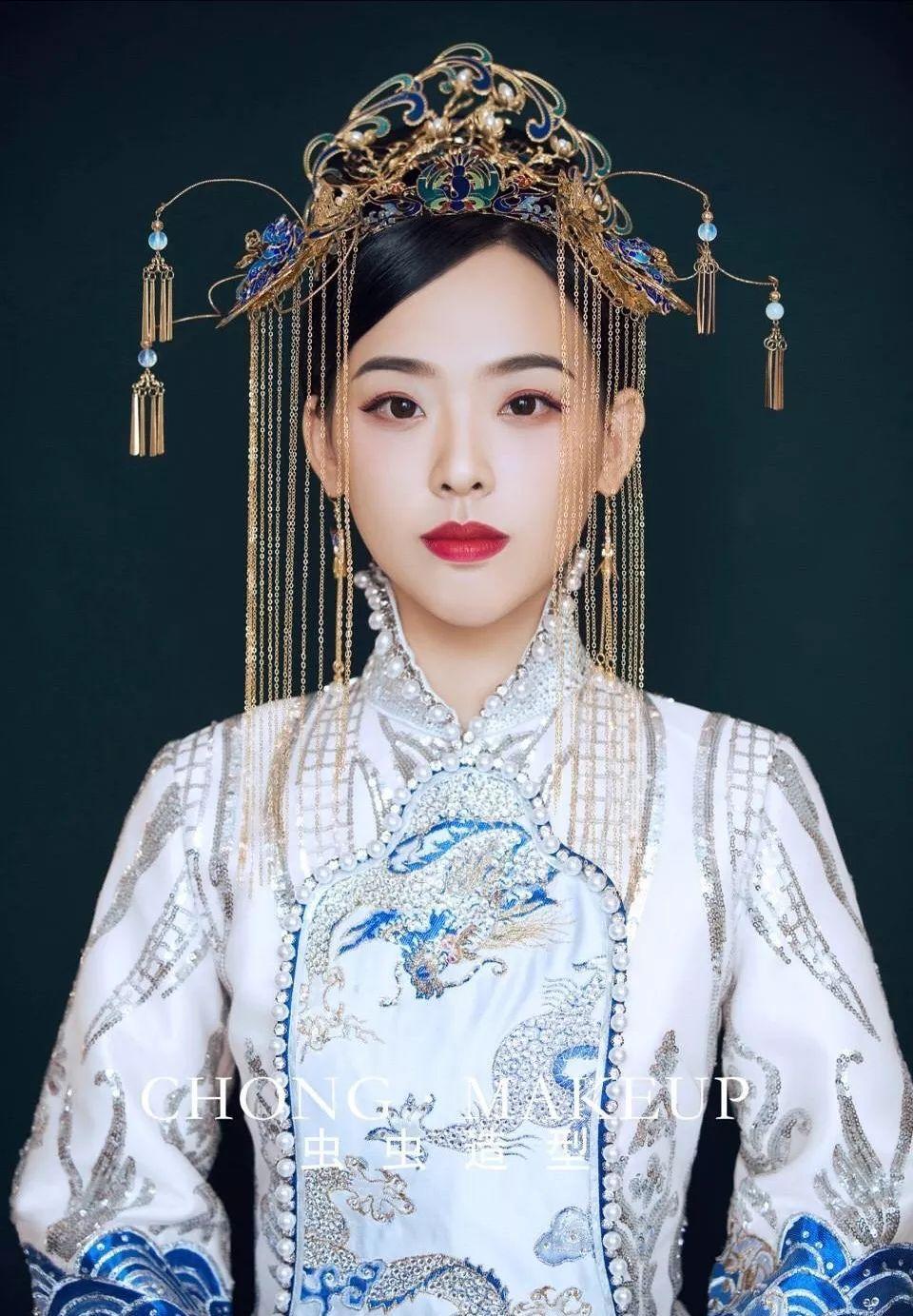 红妆古典中式新娘造型欣赏
