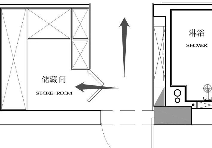 u型储藏间平面图