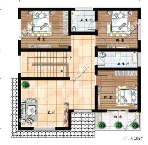 农村自建房两层小户型设计,特别适合小宅基地的小别墅图片