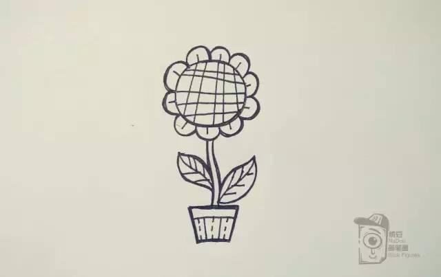 简笔画教程 | 零基础详细步骤起型,马克笔一朵暖暖的向日葵!