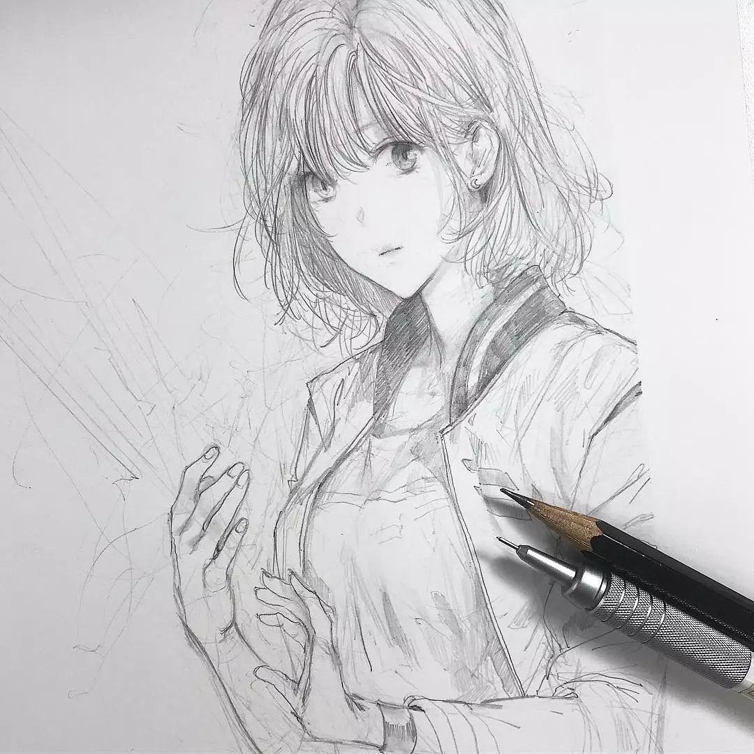 用来描绘二次元少女 非常的适合这种细腻的刻画 不是特别完整的人物