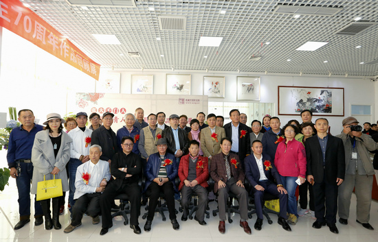 张大千门人――江苹丹青人生70周年作品回顾展在京隆重开幕