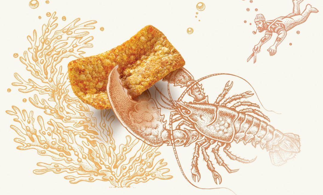 设计欣赏 | 超级手绘插画的零食薯片包装设计