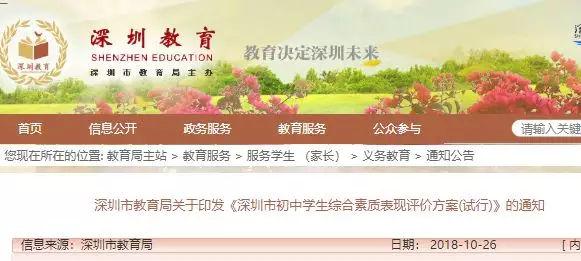 深圳中考录取规则有变?分数不是唯一,想上好高中还要看这项指标