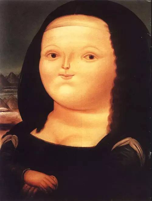 博特罗画出充气版蒙娜丽莎图片