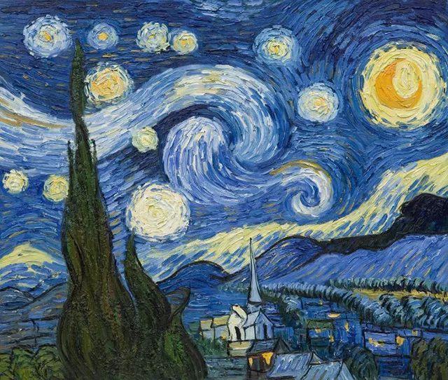 梵高星空壁纸 西方绘画 梵高 星空图片