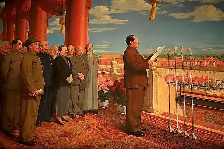 一物一故事丨北京市二十一世纪国际学校田丝语:《开国大典》油画