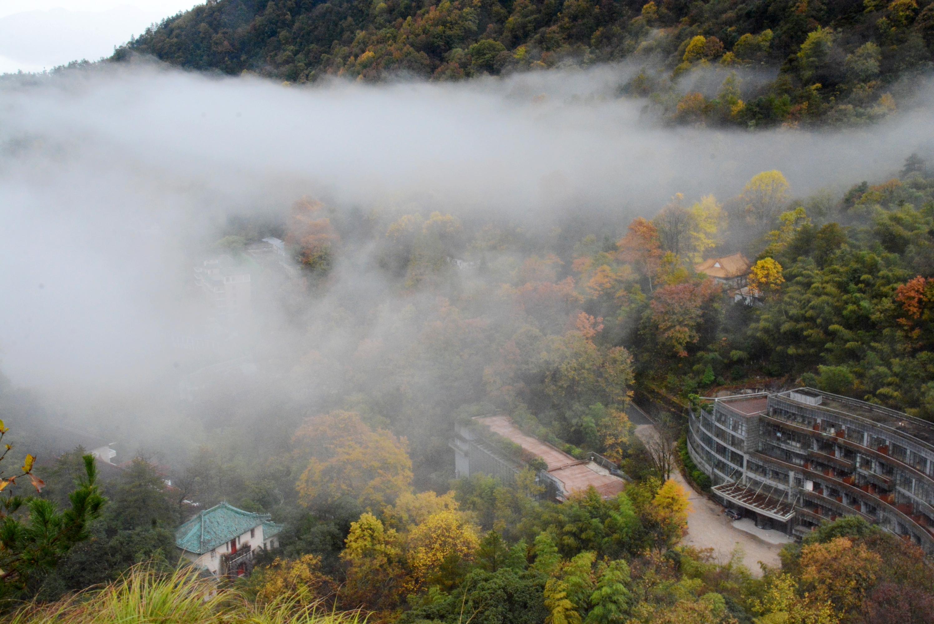 黄山温泉_黄山温泉景区多重气象景观轮番上演 如诗如画_现云海
