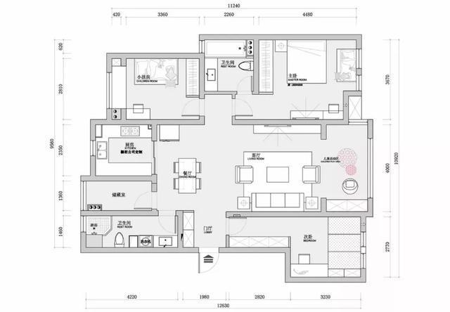 130平方农房设计图