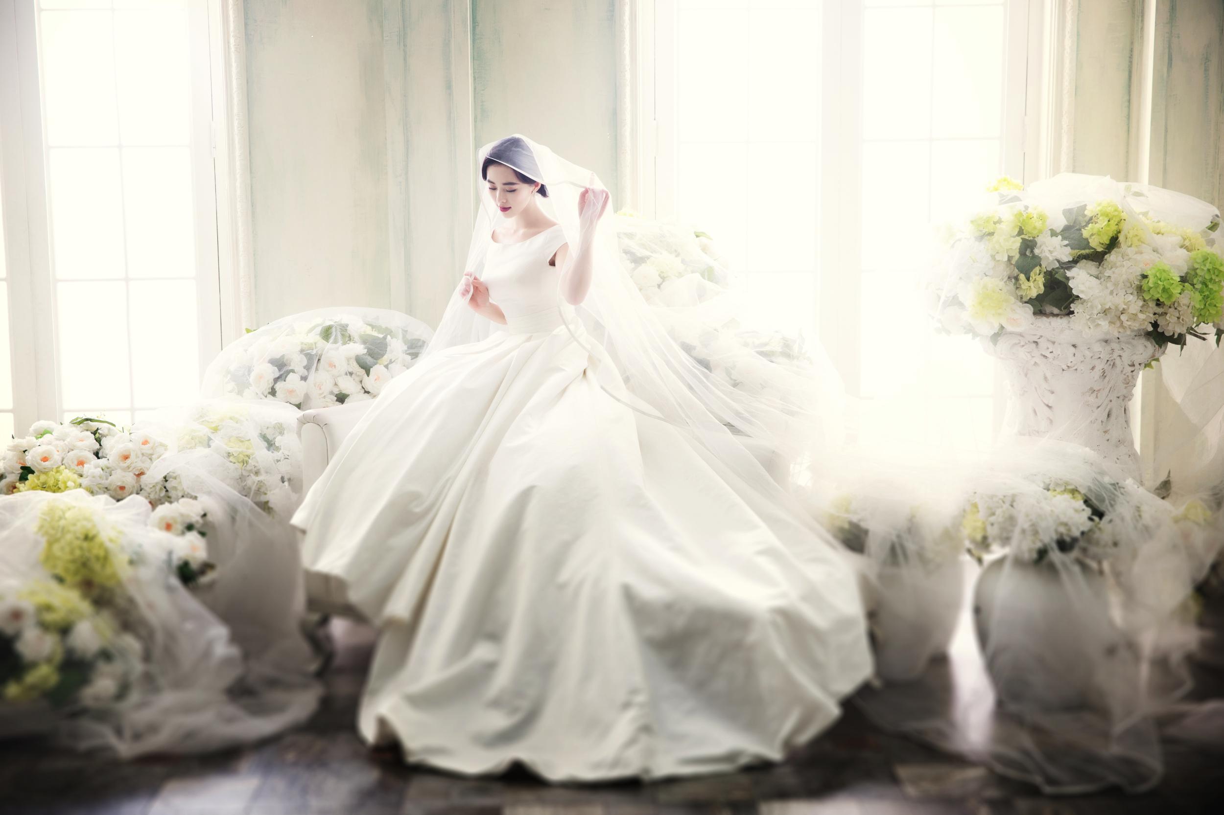 婚纱摄影店相框展示
