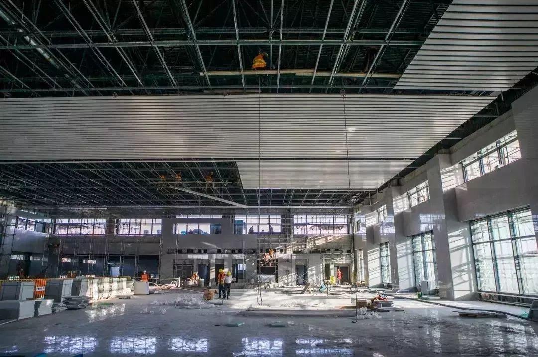 信阳火车站北大门主体工程完工啦 以后信阳火车站将有南北两个站房两个广场