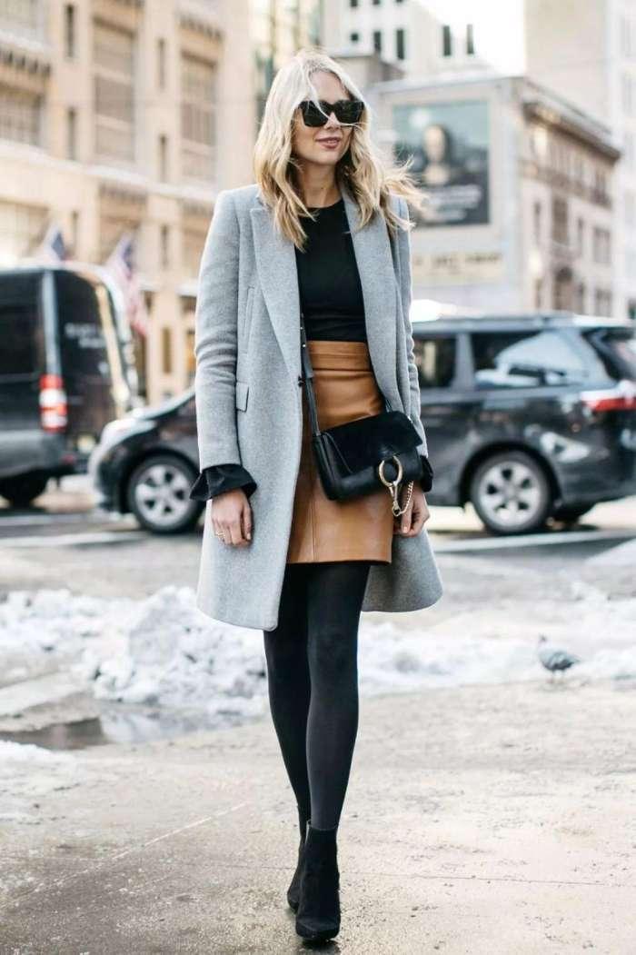 """""""大衣+裙子""""的时髦组合, 冬天显瘦还不冷, 比裤子有女人味!"""
