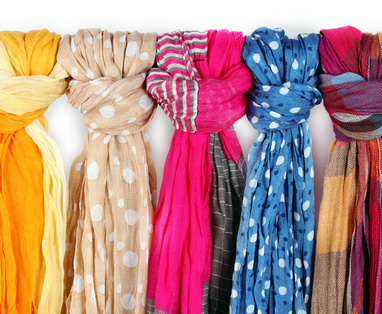 丝巾系发法则:脸型与丝巾圆型脸脸型较丰润的