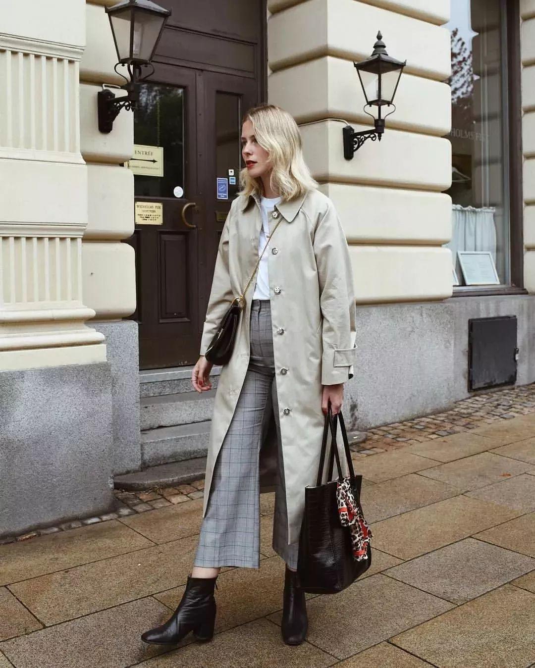 外套+阔腿裤怎么搭配更漂亮?今年适合这样穿,很显瘦,还显高!