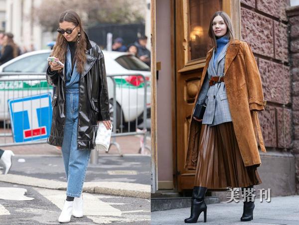 风衣(大衣)加一件保暖高领衫, 无疑是秋冬最时髦省心的穿搭了