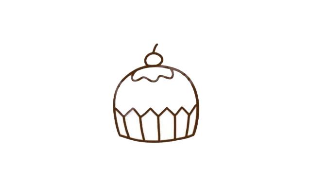 幼儿园生日蛋糕简笔画教程