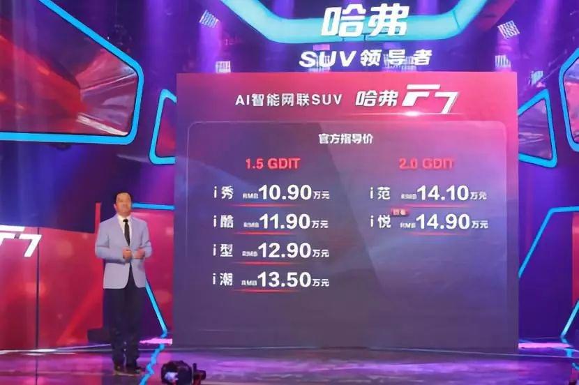 资讯 | 10.9万起, AI智能网联SUV哈弗F7全球首发