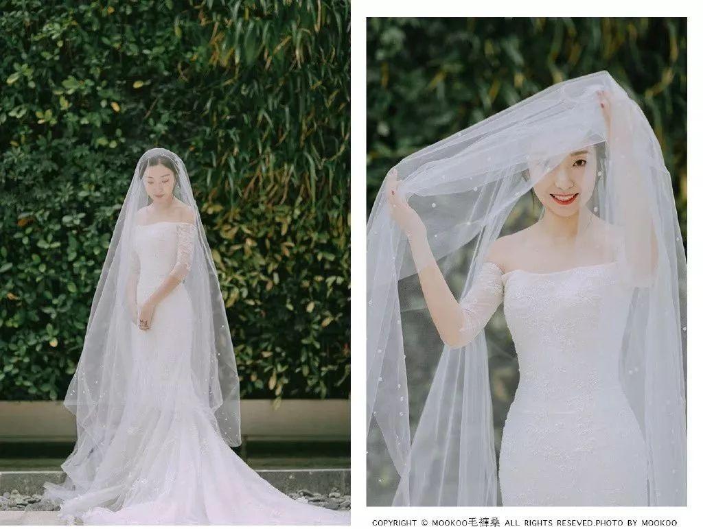 抖音飞纱火到国外?新娘头纱用对了居然可以这么美!