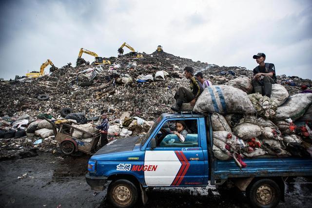 印度最大垃圾场:有很多贫民在这里寻宝,还有着比人还大的鸟!