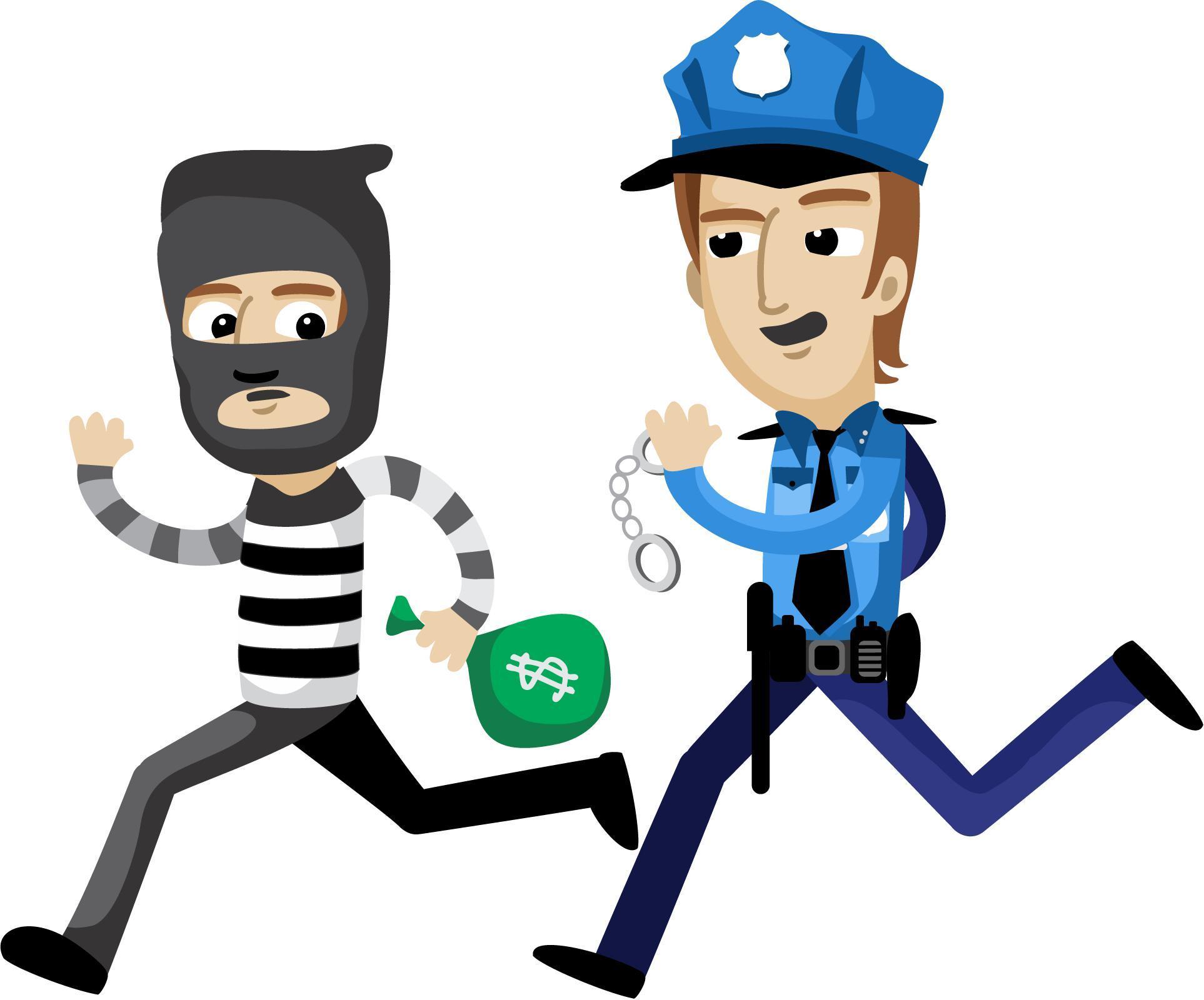 小偷漫画图片