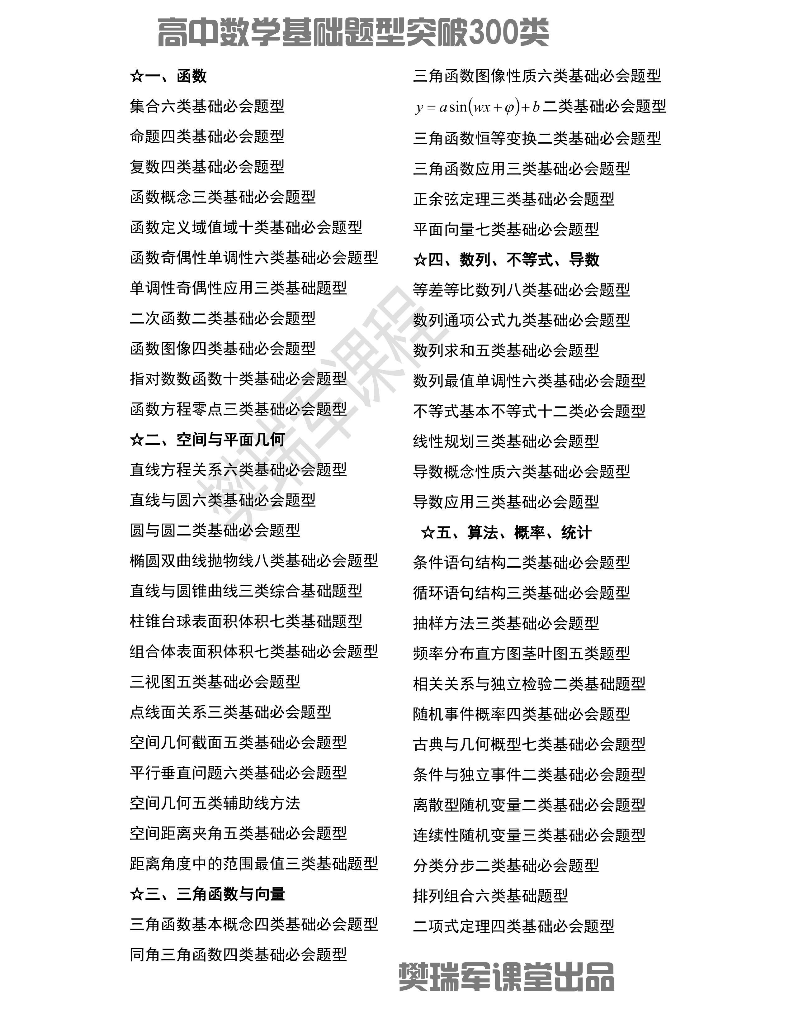 怎么才气学好高中数学名师樊瑞军讲授六大焦点秘笈(责编保举:数学家教jxfudao.com/xuesheng)