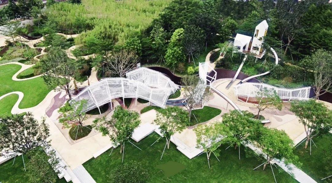张唐景观设计事务所项目总监张卿表示,公园的儿童活动区一共设置了图片