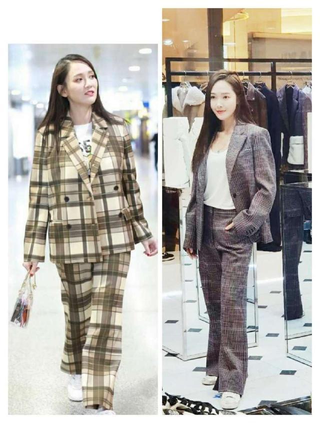 当陈乔恩与郑秀妍同穿格纹西装,终于见识到了气质美的最高境界!