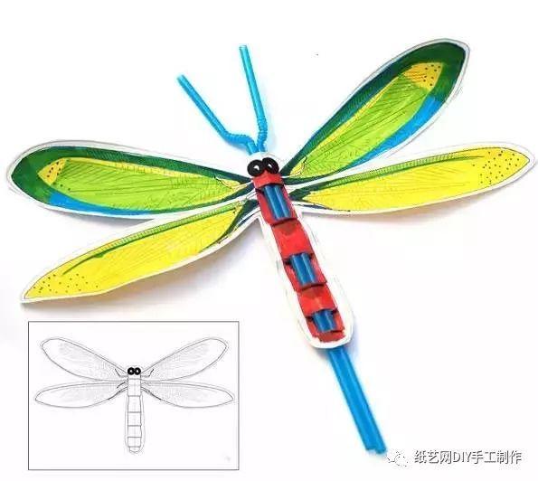 蜻蜓的 4 种简易手工,带上孩子一起来玩吧!超简单(附教程)