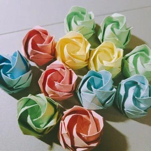 纸条折玫瑰花步骤图解