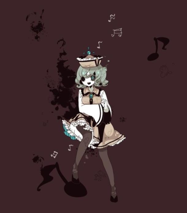 二次元手绘画:可爱的白发小姑娘,手里提着一把伞,你是在等我吗?