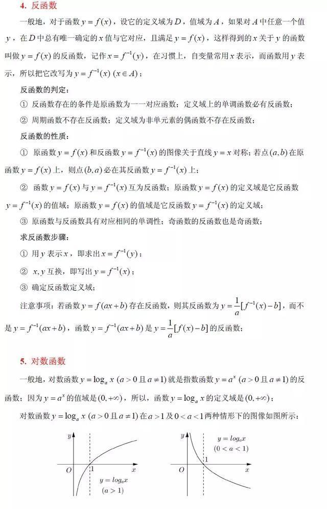 高中数学初等函数常识点及性子大全(超具体),太适用了!(责编保举:高中数学zsjyx.com)