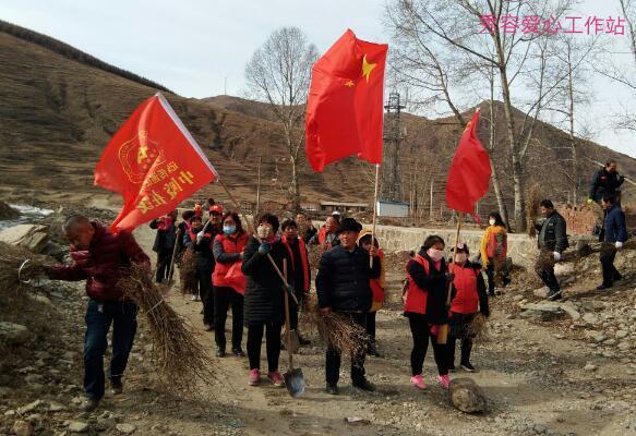 公益在线秀容爱心工作站志愿者繁峙县岩头乡大明烟村种植沙棘