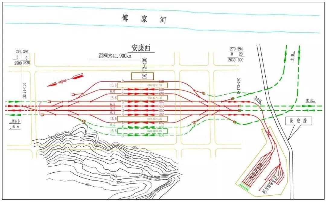 铁路设计图平面图