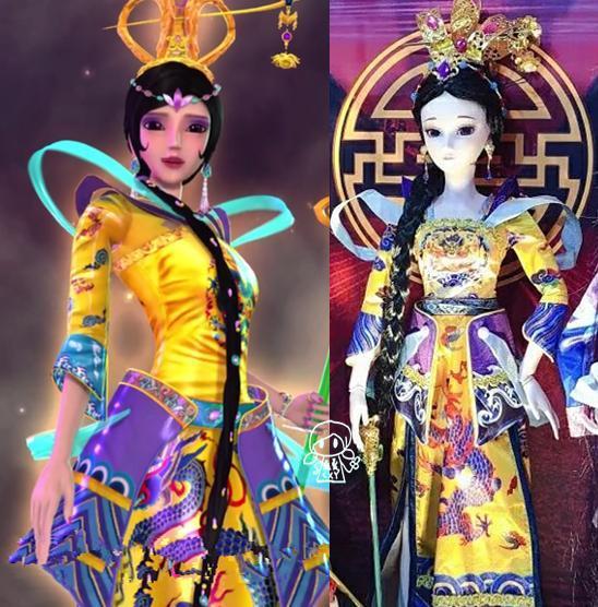 叶罗丽圣级仙子变成3d玩偶后的造型,曼多拉和辛灵姐妹图片