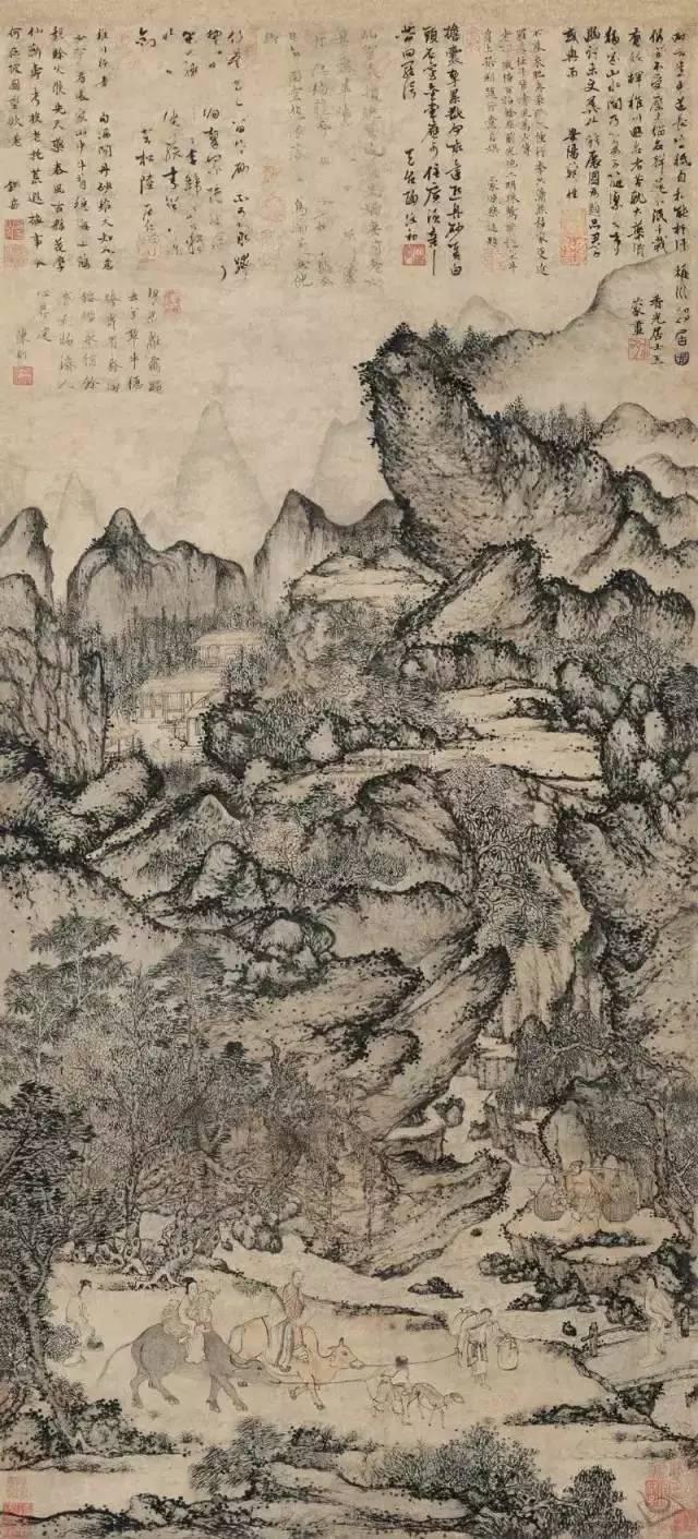05 中国十大最贵名画 齐白石 | 《松柏高立图·篆书四言联》4.图片