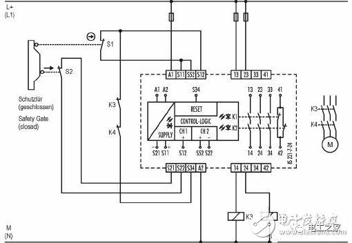 安全继电器工作原理,接线图,使用方法图解_触点