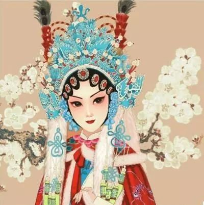 三尺红台万事入歌吹——动漫古风京剧花旦头像,壁纸欣赏!
