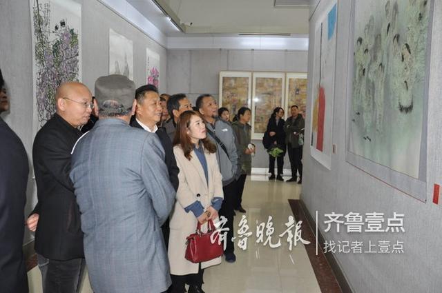 纪念改革开放·菏泽美术40年优秀作品展开幕式举行