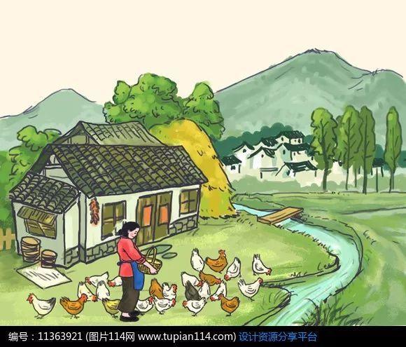 西湖风景钢笔手绘