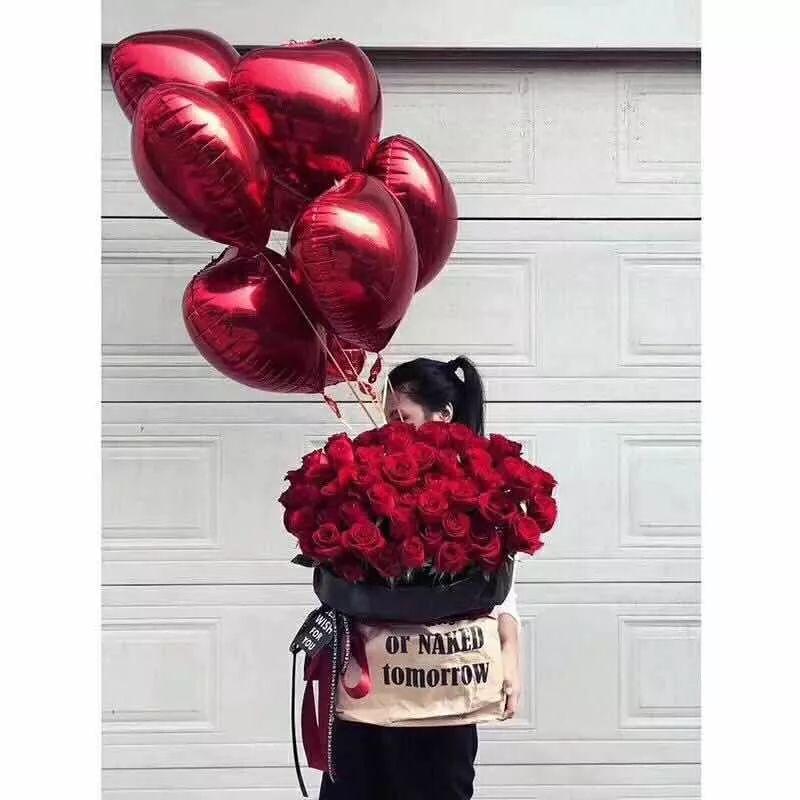 红玫瑰花语: