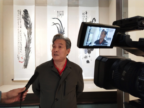 """""""舞墨东方-孙安民条幅画展""""在京举行"""